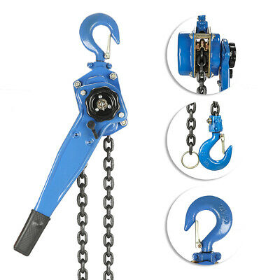 1.5 Ton Lever Block Chain Hoist Ratchet Type Come Along Puller 5ft Chain Lifter