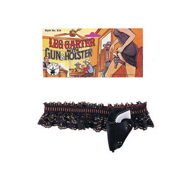 Garter Belt and Gun Set Flapper Lace Black and Red Sexy Halloween Accessory - Gun Holster Garter Belt