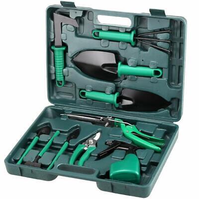 10 Pcs Heavy Duty Garden Tools Kit Trowel Pruner Rake Transplanter Cultivator - Heavy Duty Cultivator