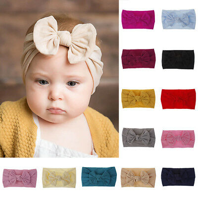Sweet Nylon Big Bow Hair Bands Baby Headband Elastic DIY Hairwrap Accessory Bulk (Bulk Headbands)