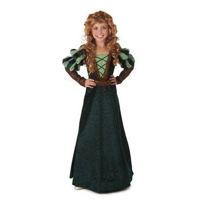 Wald Prinzessin Kinder Kostüm Merida Mutig Kleid Mittelalterlich Disney Pixar ()