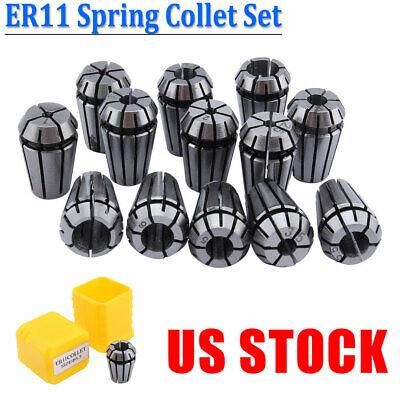 13 Pcs Er11 Spring Collet Set For Cnc Workholding Engraving Lathe Tool 1mm-7mm