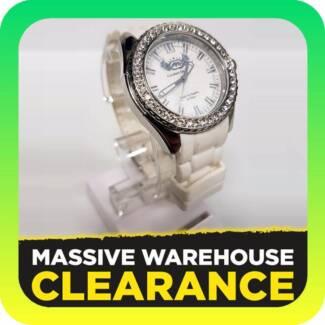 Marc Ecko E11599M2 Ladies The Grandee Silver/White Watch RRP $269