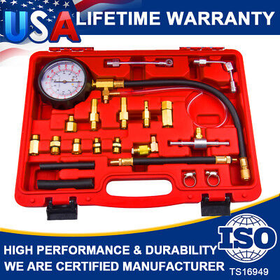 140PSI Diesel Fuel Injection Pump Oil Pressure Gauge System Tester Test Tool Kit