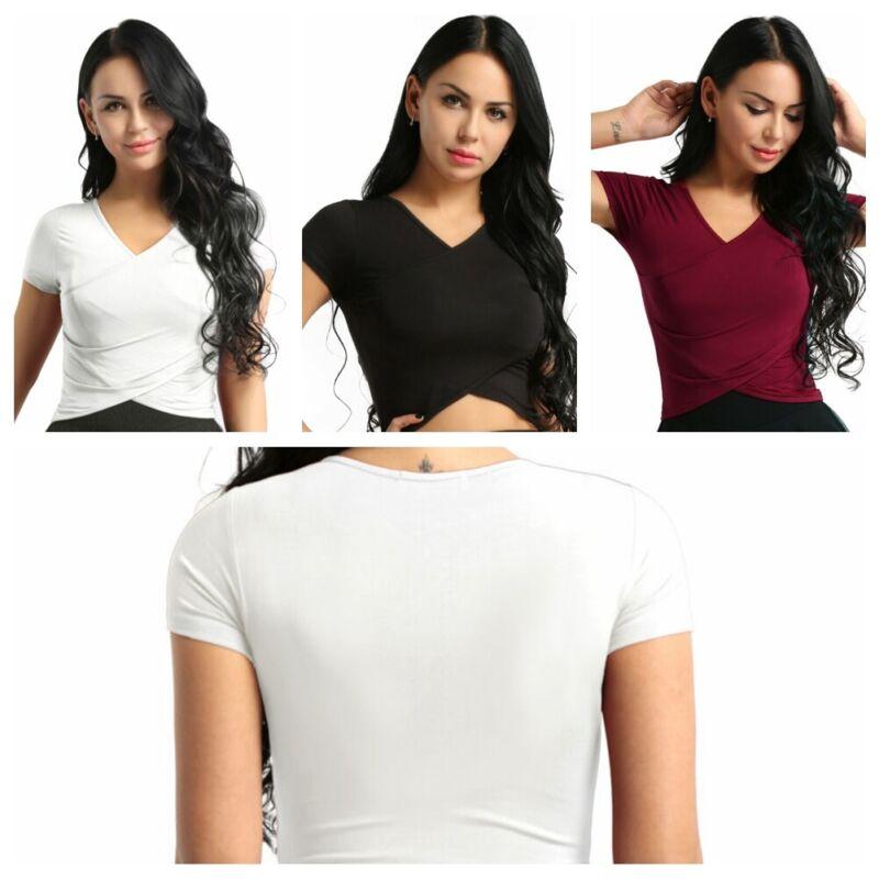 Responsible 2019 Women Fashion Plaids V-neck Short Blouse Lady Girls Casual Top Blouses Ladies Slim Crop Tops Shirts Blouses & Shirts