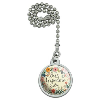 Best Grandma Ever Floral Ceiling Fan and Light Pull