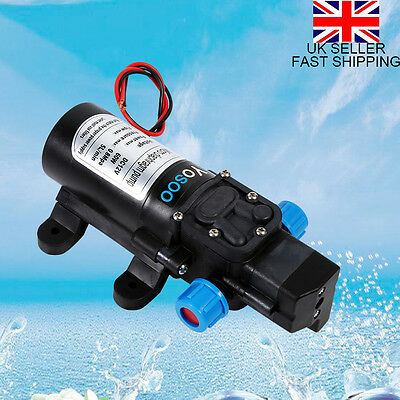 12V DC 115Psi High Pressure Diaphragm Self Priming Water Pump 5Lpm 60W Free Ship