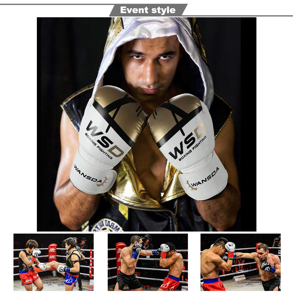 Shiv Naresh Teens Boxing Gloves 12oz: Leather Boxing Gloves Muay Thai Training Punching Bag