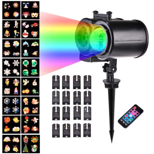 16 Muster LED Laser Licht Projektor Weihnacht Außen Beleuchtung Garten Lampe Neu