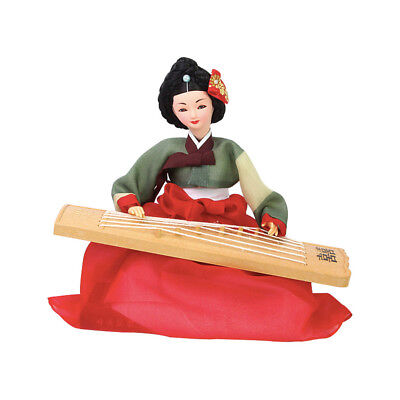 "Korean Traditional Handicraft Hanbok Dolls Gayageum 12"" Collectible Figure Gift"