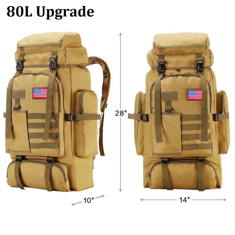 SoltekOnline: 30L/35L/40L/80L Outdoor Military Tactical Rucksack Backpacks  Hiking Camping Bag