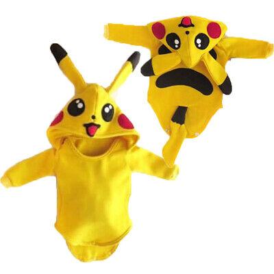 Baby Pikachu Halloween Costumes (Cute Baby Girl Boy Pikachu Romper Jumpsuit Outfits Halloween Cosplay)