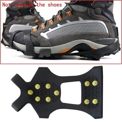 10Teeth/Nail Snow Cleats Anti-Slip Overshoes Studded Ice Traction Shoe Cover M