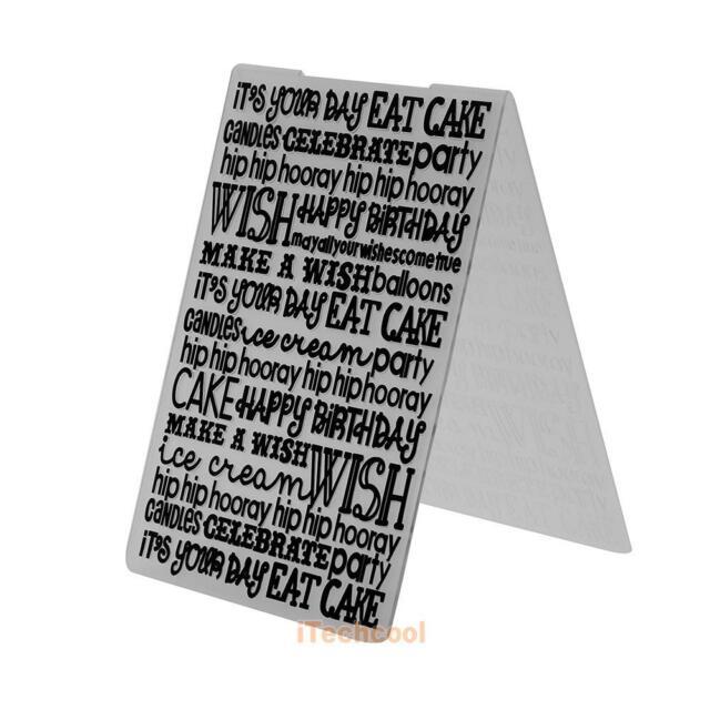1pc Multi-Letters Plastic Embossing Folder Template For Scrapbooking DIY #T1K