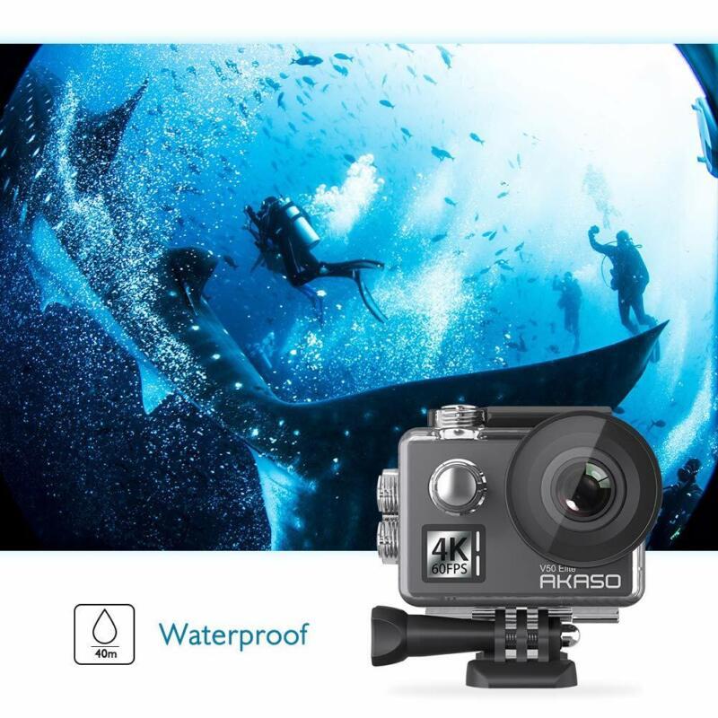 Akaso V50 Elite Ultra HD 4K 20MP WiFi Action Camera w/ EIS 170 Degree Wide Angle