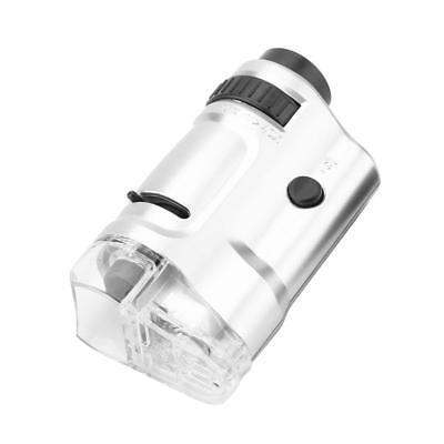 20x-40x Zoom Led Lighted Illuminated Mini Pocket Microscope With Base Be