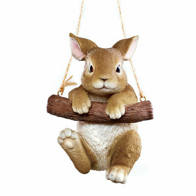Tree Hanging Brown Bunny Rabbit Yard Statue Garden Sculpture NEW (Bunny Rabbit Hanging)