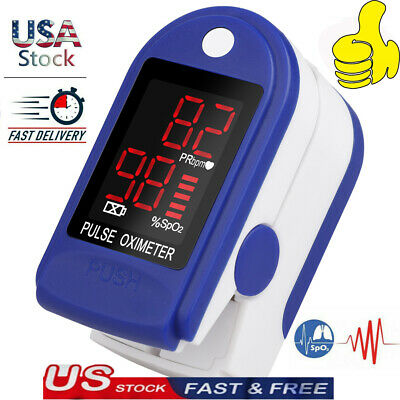 Pulse Oximeter Blood Oxygen Saturation Spo2 Finger Pr Monitor Fingertip Hot.