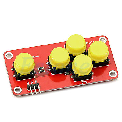 Electronic Blocks Simulatead Keyboard Five Key Module Analog Button For Arduino