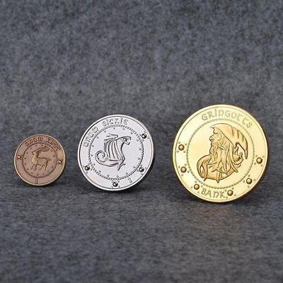 3X Harry Potter Hogwarts Gringotts Bank Wizarding Galleon Commemorative Coins US