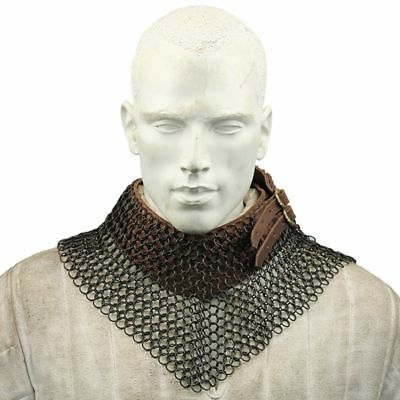 Blackened Chainmail Bishop's Mantle Collar Knights Templar Renaissance Armor