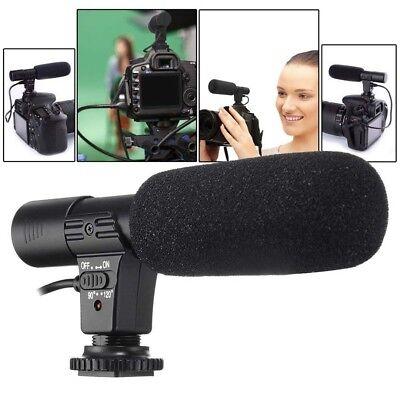 3,5 mm mikrofon Externes Stereo Mic für Canon Nikon DSLR Kamera DV Camcorder NEU
