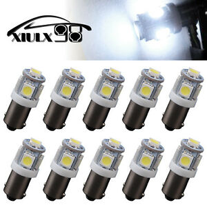 10 Pcs Pure White T11 BA9S-5SMD 5050 LED  High Power LED Light Bulb Car DC 12V