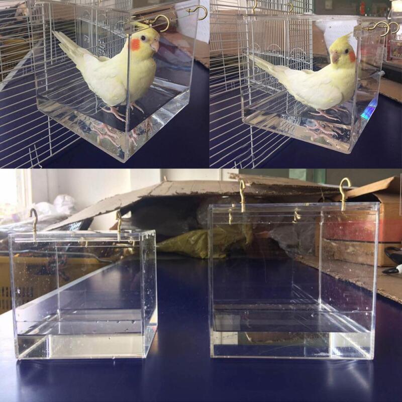 Details about Vision Bird Bath Cage For Pet Birds Hanging Bathtub Accessory  Parrot Parakeet