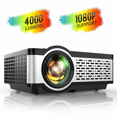 Video Projectors with 4000 Lumens, HiFi Speaker, Support 1080P Playing for Home