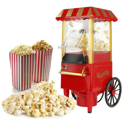 Popcornmaschine Popcorngerät Popcornmaker Nostalgie Popcorn Maschine 1200W