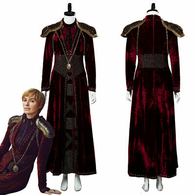 Game of Thrones Season 8 Cersei Lannister Gown Outfit Red Dress Cosplay Costume - Cersei Lannister Red Dress