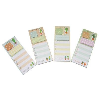 4 Shapes Cute Cactus Sticky Note Pads Decorative Post It Note Office Supplies