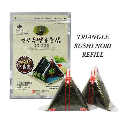 Onigiri Nori Rice Ball Triangle Sushi Seaweed Wrappers, 40 Sheets - Refill