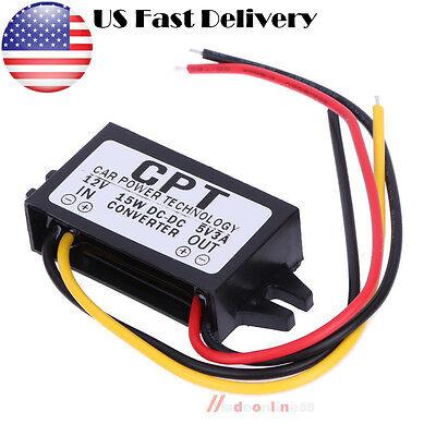Dc 12v To 5v 3a 15w Buck Converter Step-down Car Power Supply Voltage Regulator