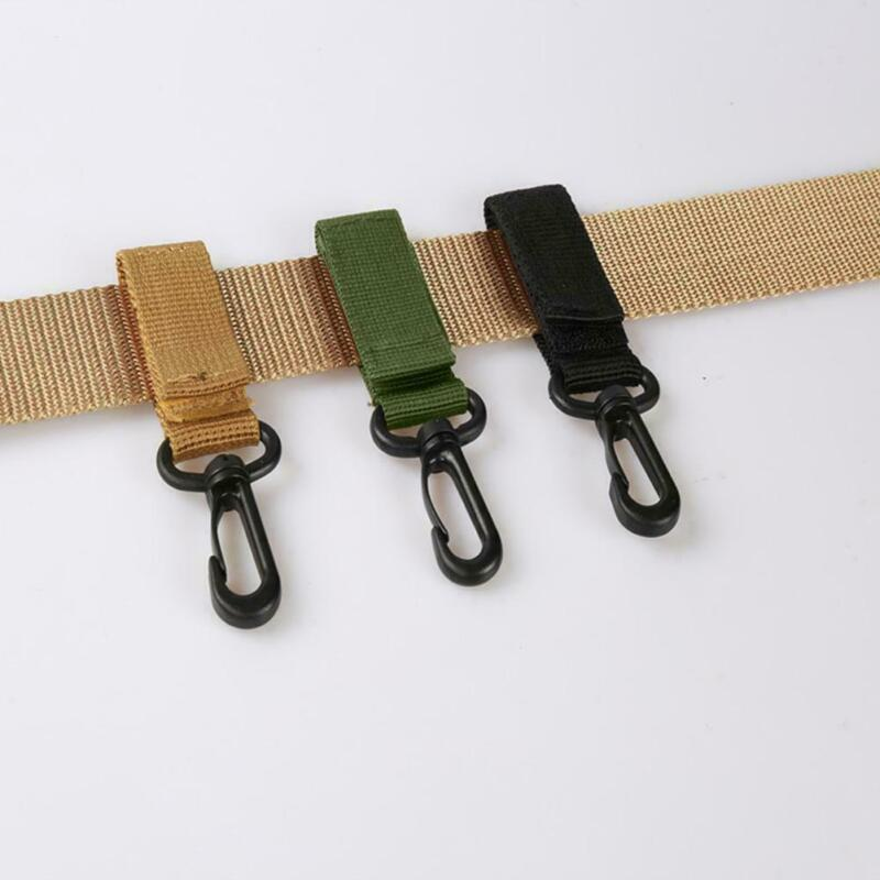 1Pc Nylon Fabric Keychain Clasp Tactical Carabiner Belts Cli
