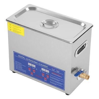 6l Digital Heated Industrial Ultrasonic Parts Jewelry Cleaner W Bath Tank Timer