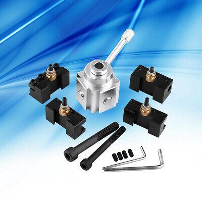 High Precision Aluminum Alloy Quick Change Mini Lathe Tool Post Holder Kit Set