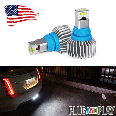 For 2013-2017 Cadillac XTS Xenon White 921 CSP LED Backup Light Bulbs, CAN-bus