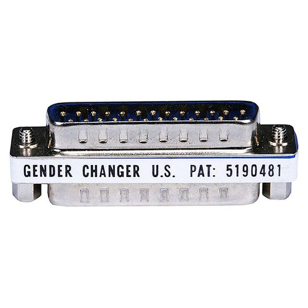 DB25 DB 25 pin D Sub Male to Male Gender Changer Coupler Adapter Converter
