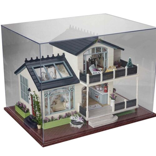 DIY Dollhouse Miniature Kit Dolls House With Furniture LED