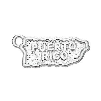 - 20pcs Puerto Rico Map Wholesale Jewelry Charms Pendants Free Shipping