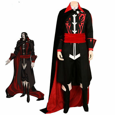 NEW Castlevania Dracula Vlad Tepes TV Costume Vampire Cosplay Halloween Game  {1](Halloween Dress Up Games Vampire)