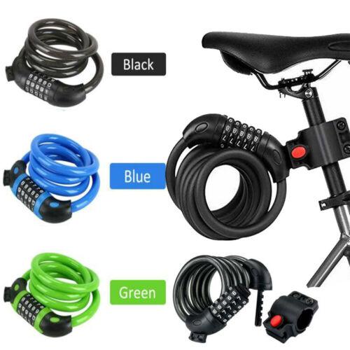 Bike Bicycle Lock Cable Heavy Duty Combination Chain Padlock