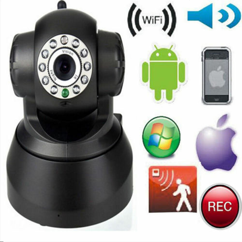 2x Wireless 720P Pan Tilt WiFi IP Camera Network CCTV Security IR