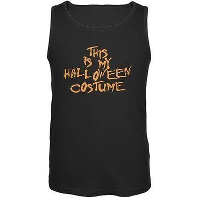 My Funny Cheap Halloween Costume Black Adult Tank Top