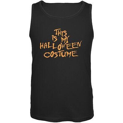 My Funny Cheap Halloween Costume Black Adult Tank Top
