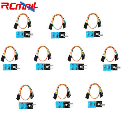 10pcs Dht11 Temperature Sensor Relative Humidity Module For Arduino