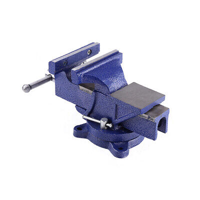 5 Heavy Duty Engineer Vise Swivel Base Clamp Jaw Work Bench Workshop Tool Usa