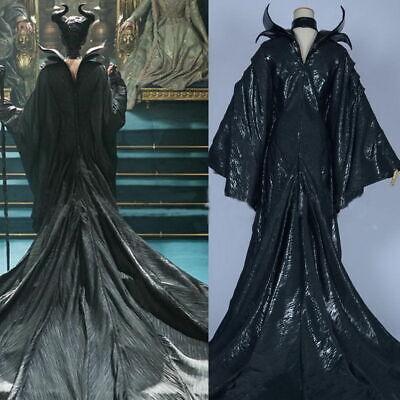 Maleficent Deluxe Evil Queen Adults Cosplay Costume Halloween Outfit Fancy Dress](Halloween Costumes Evil Queen)