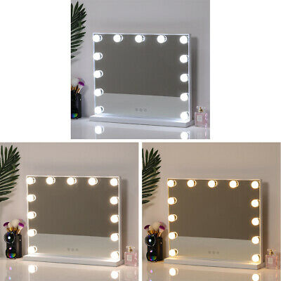 Hollywood Make Up Mirror With LED Light Bulbs Dressing Table Illuminated Mirrors